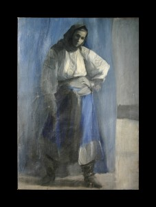 """Young Woman in Blue"""